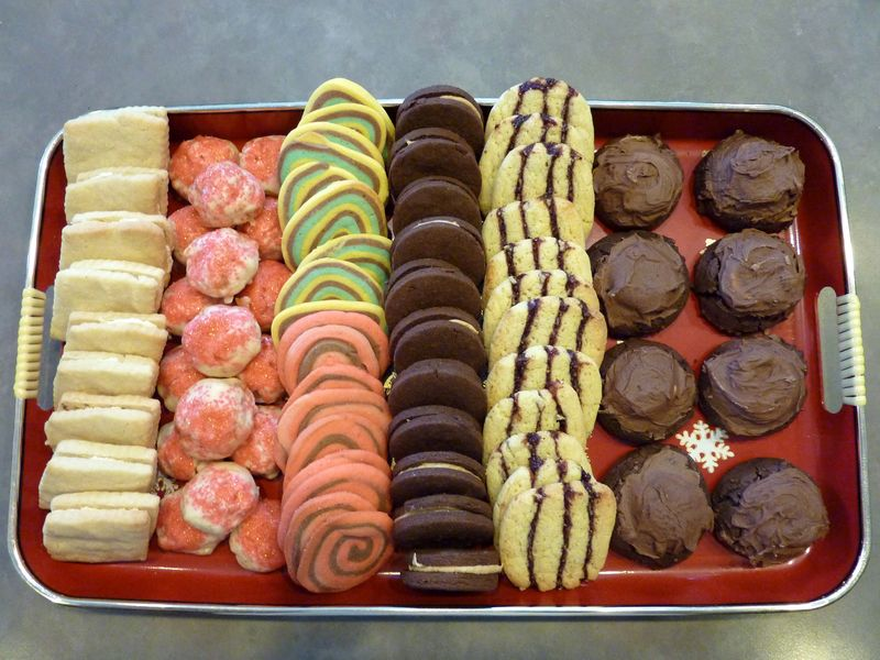 ... cookies, cornmeal and cherry refrigerator cookies, surprise cookies